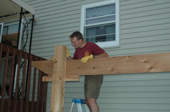 Setting girders 3