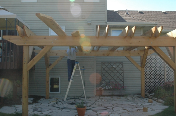 Setting rafters 10