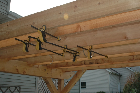 Setting rafters 14